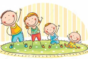 family-doing-morning-exercises-two-children-44631691
