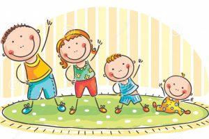 family-doing-morning-exercises-two-children-44631691